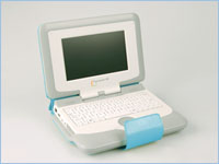 "Intel ""Classmate PC"" budget laptop: Like the OLPC laptop, the ""Classmate PC"" will retail for about $200"