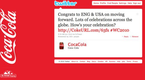 Coca Cola Promoted Tweet