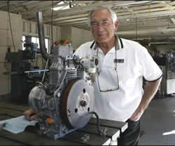 Bruce Crower and his steam engine