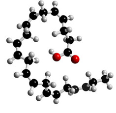 DHA, an omega-3 fatty acid. Image credit: 3dchem.com