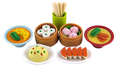 Dim Sum Set of Erasers