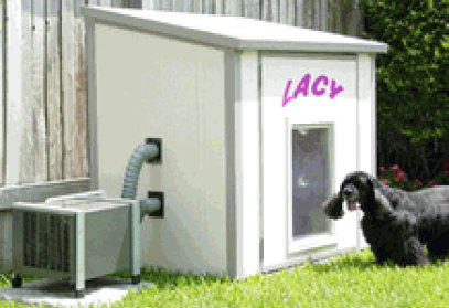 Custom Dog Houses With Ac