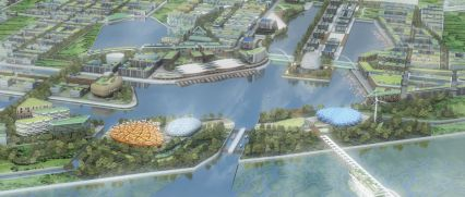 Dongtan Eco-City: The eco-city of Dongtan outside of Shanghai