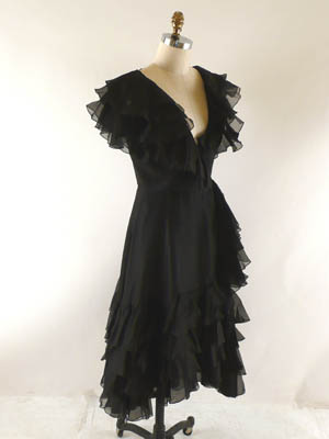 black dress 1980's Oscar de la Renta