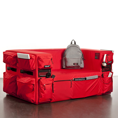 Built To Resi(s)t Sofa, designed by Quinze & Milan for Eastpak