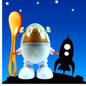 Egg Robot and Spoon