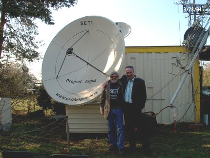 Dr. Zaitev with one of the innovative radio transmitters: Source: Seti Institute
