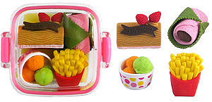 Dessert Box Set of Erasers