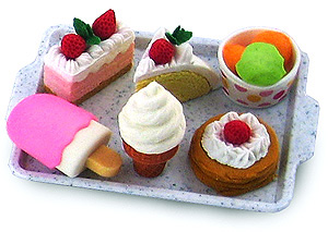 Collectible Eraser Dessert Set