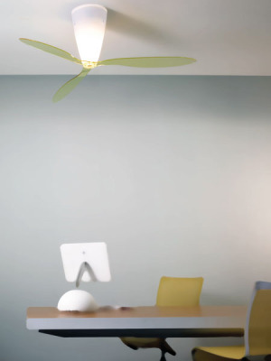 Blow Ceiling Fan with Light