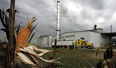 American ethanol plant using corn