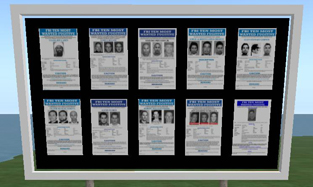 FBI Billboards on Second Life