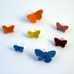 Butterflies at Rest Rings