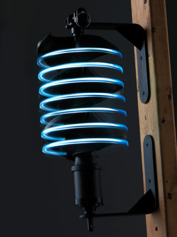 Firewinder wind-powered spinning light