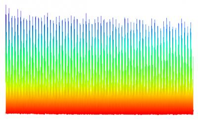 Frequency Comb: Each tooth on this gap-toothed frequency comb indicates a different frequency, and can be used to search for frequency variations in star light that indicate the presence of an orbiting planet. Credit: M. Kirchner & S. Diddams/NIST.