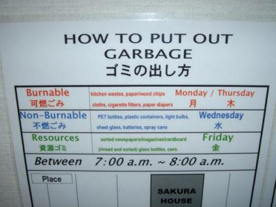 In Japan, Garbage Rules