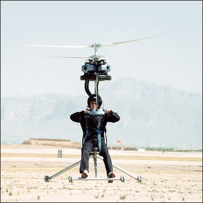The GEN H-4 helicopter during desert testing