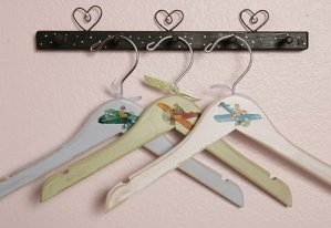 Vintage hangers can add a classic touch to a modern room