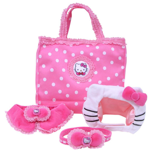 Hello Kitty costume & carry-all... Elle Woods wants!