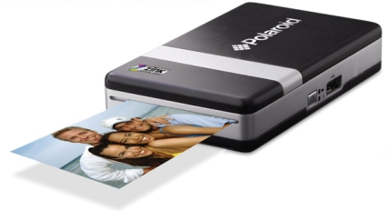 Polaroid printer prints 2x3 inch Zink photos