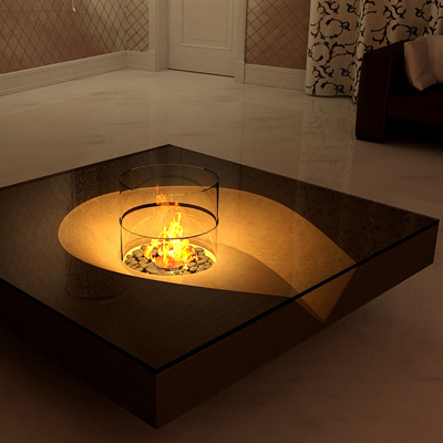 Hot Chocolate Coffee Table by Planika Fires