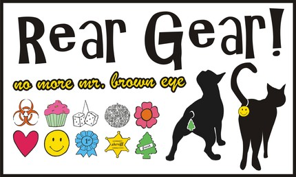 Big Selection of Rear Gear pet butt tags