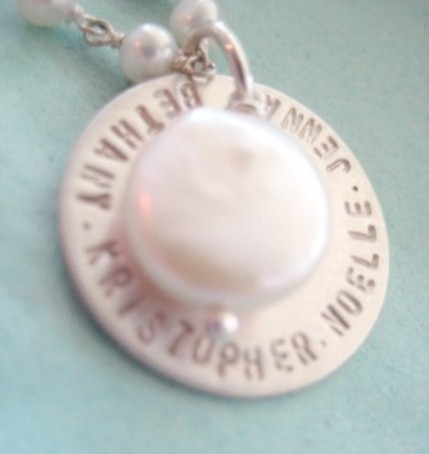 Pearl Insbribed Necklace for Mom