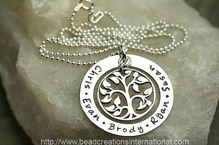 Modern Family Tree Necklace for Mom
