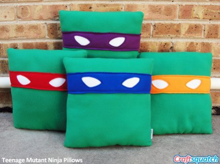 Teenage Mutant Ninja Pillow Set by Craftsquatch