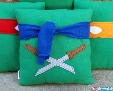 Teenage Mutant Ninja Pillow by Craftsquatch