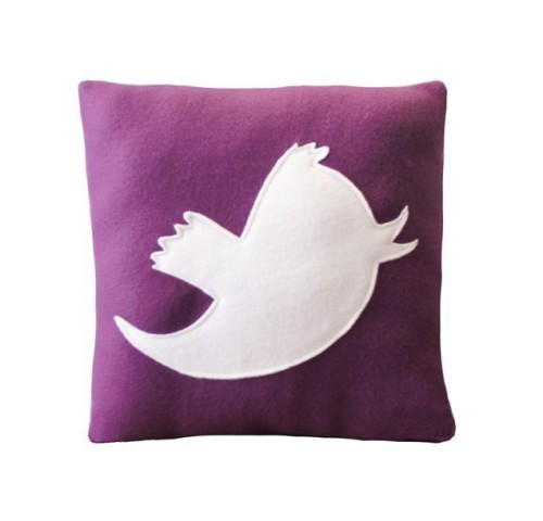 Tweet Social Media Pillow by Craftsquatch