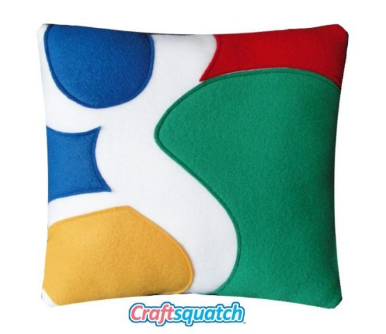 Google icon pillow, evolved by Craftsquash