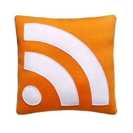RSS Feed Icon Pillow by Craftsquatch