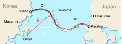 Possible tunnel routes (via Japundit)