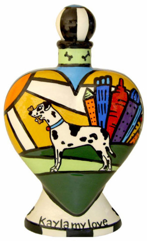 Kayla The Harlequin Great Dane, Pet Urn: ©ChowTime Productions