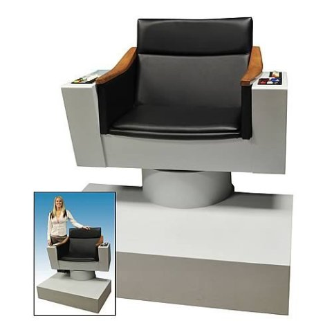 Star trek these are the voyages of kirk 39 s chair in your for Cool things for your room