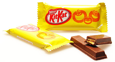 Pumpkin Kit Kat... scary good!