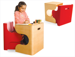 This desk is as creative as your child's imagination
