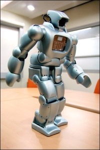 Just one of many robots being manufactured in Korea for their convenient size and family friendly functions