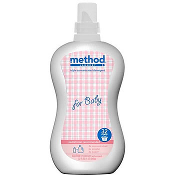 Method laundry detergent is perfect for baby's clothes: Source: Great Green Baby