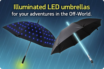 Geeky Light-Up Umbrellas