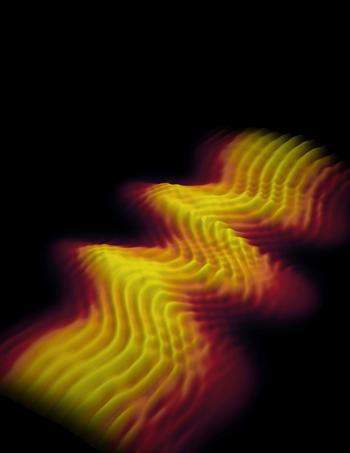 Photo of a light pulse lasting 2.5 femtoseconds. Credit: Science.