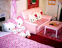 Hello Kitty Love Hotel room