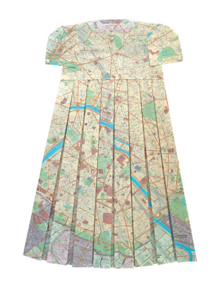 Map Dress: Would this be considered cheating if you wore it to school?