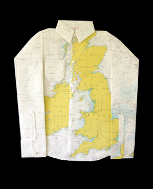 Map Shirt: I sure wouldn't notice any stains on this!