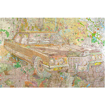 Map Art Car