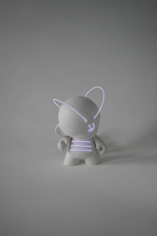 Lightbot Munny: Major U.N.T. (Urban Non-Terrestrial): Marcus Tremonto for Kidrobot