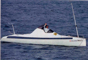 Kenichi Horie's 1993 ocean-crossing, pedal-powered craft