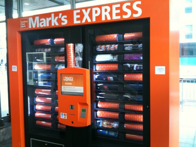 Mark's Work Warehouse Vending