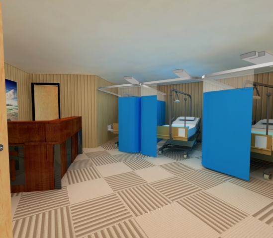 Vivos underground shelter, hospital: ©Vivos Group